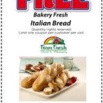 Free Bakery Fresh Italian Bread Coupon at Farm Fresh