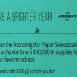 Win big for your school with Astrobrights
