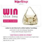 Tod's White Leather Shoulder Bag Purse Handbag Giveaway