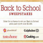 Enter the Back to School Sweepstakes with Cooking.com