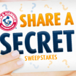 Arm & Hammer Share A Secret Sweepstakes