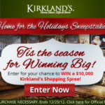 Kirkland's Home for the Holidays Sweepstakes