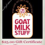 Goats Milk Stuff Giveaway