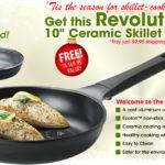 Free Revolutionary 10″ Ceramic Skillet. Just Pay Shipping