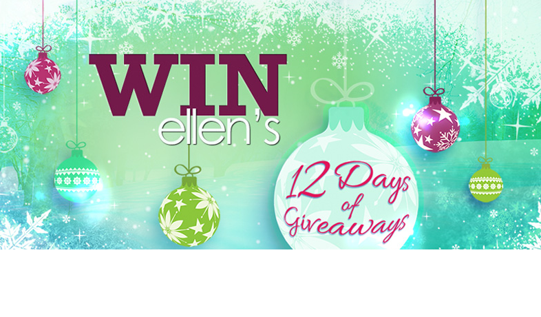 head over here to enter in the ellen degeneres show 12 days of giveaways