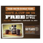 Visit the Coffee Bean & Tea Leaf for a Free Drink of Your Choice
