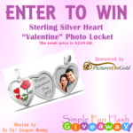 "Sterling Silver Heart ""Valentine"" Photo Locket Giveaway"