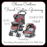 CHICCO CORTINA TRAVEL SYSTEM GIVEAWAY