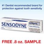 Free Sensodyne Extra Whitening Toothpaste Sample