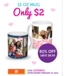 11 oz Mug Only $2