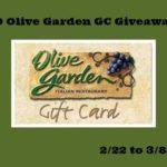 $30 Olive Garden Giveaway