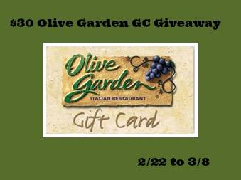30 Olive Garden Giveaway Life With Kathy