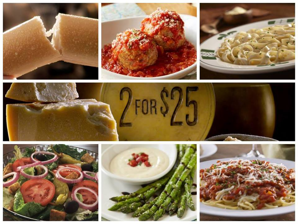 30 olive garden giveaway life with kathy for Olive garden never ending classics prices
