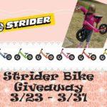 Strider Balance Bike Giveaway