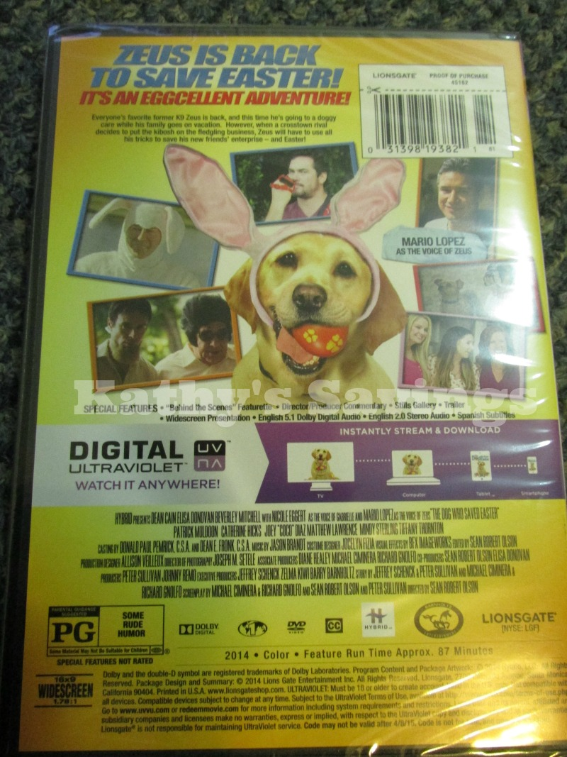 The Dog Who Saved Easter Dvd Review Life With Kathy