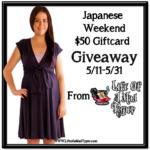 Japenese Weekend $50 Gift Card Giveaway