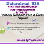 Naturalmat Organic Baby Mattress Giveaway