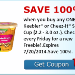 Free Keebler or Cheez-It Snack Cup