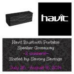 Havit Portable Speaker Giveaway