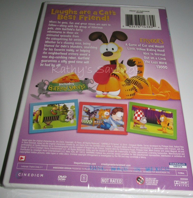 The Garfield Show Best Friends Forever Dvd Review Life With Kathy
