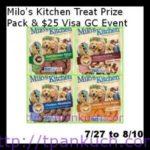 Milo's Kitchen Treat Prize Pack & $25 Visa GC Giveaway