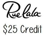 Free $25 Rue La La Credit