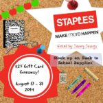 Staples $25 Gift Card Giveaway