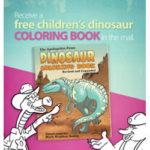 Free Children's Dinosaur Coloring Book