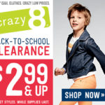 Crazy 8: Back to School Clearance starting at $2.99‏
