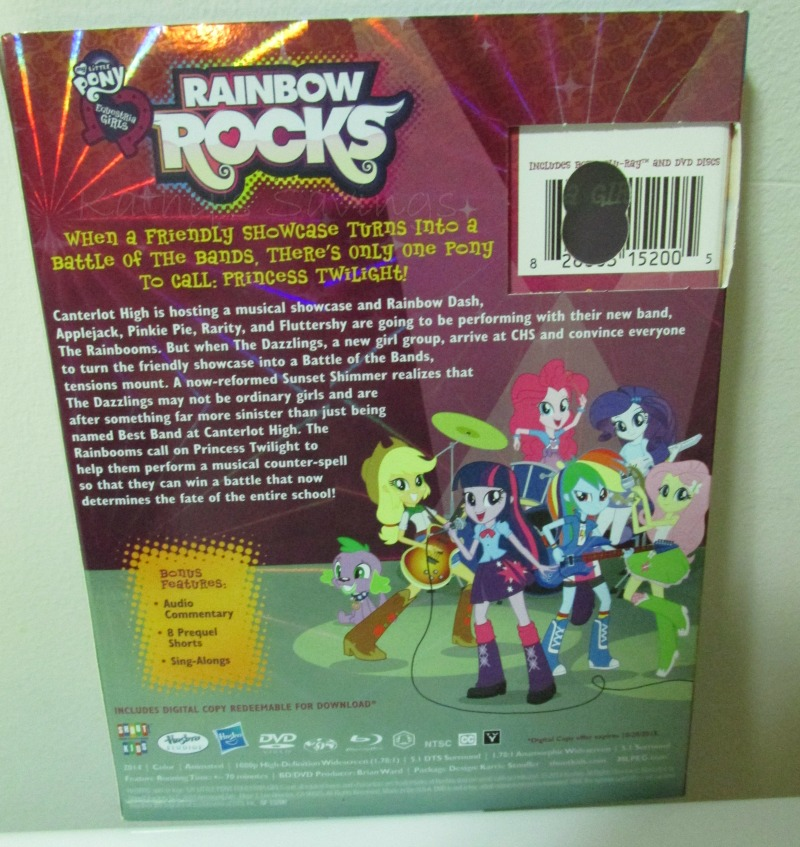 #MyLittlePony #RainBowRocks #EquestriaGirls #BluRay #review