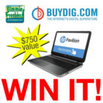 HP Touch Screen Laptop Giveaway
