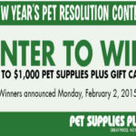 $1,000 Pet Supplies Plus Gift Card Giveaway