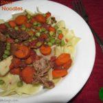 Beef Stew Over Noodles