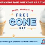 Free Cone at Dairy Queen on Monday March 16th