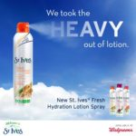 Save on St. Ives Fresh Hydration Lotion Sprays at Walgreens