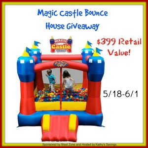 Enter the Magic Castle Bounce House Giveaway. Ends 6/1