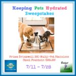 Keeping Pets Hydrated Giveaway