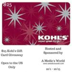 $25 Kohl's Gift Card Giveaway