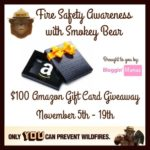 Fire Safety Awareness Smokey Bear Amazon Gift Card Giveaway