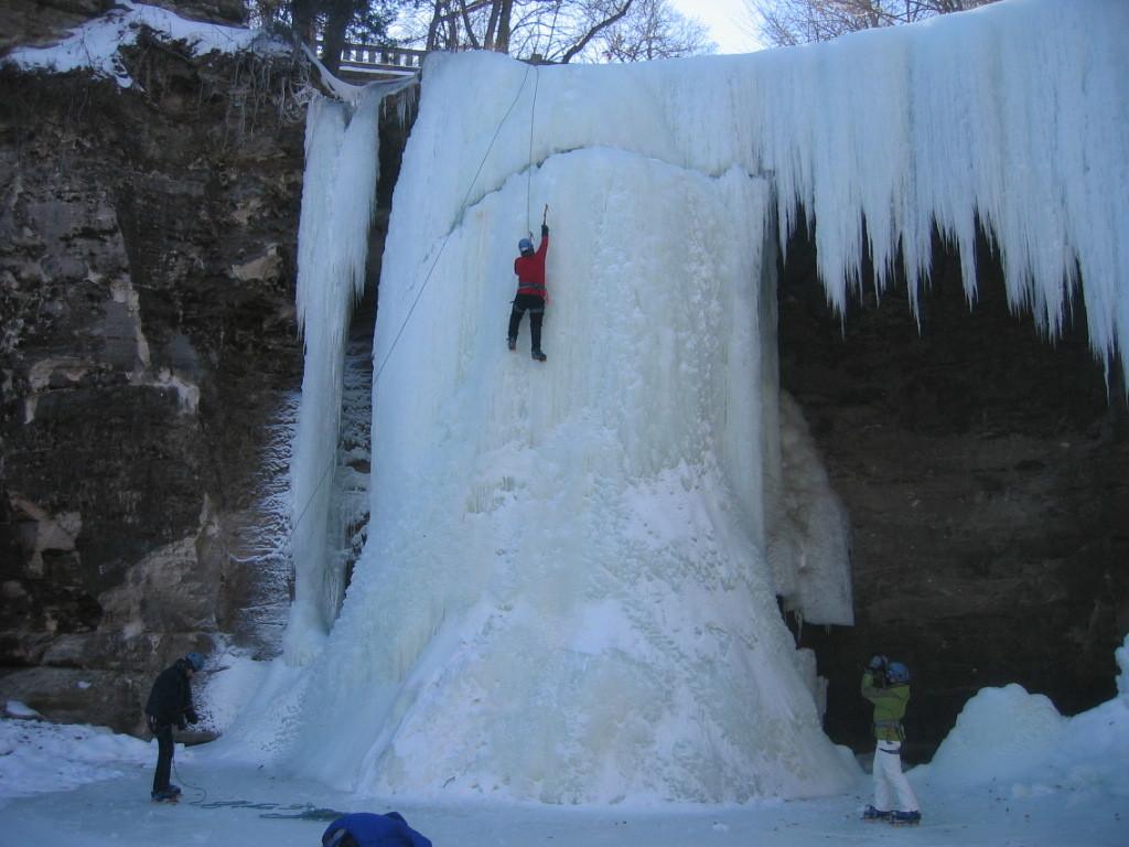 Frozen Minneopa Falls