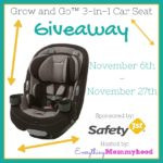 Grow and Go 3-in-1 Car Seat Giveaway