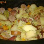 Crockpot Cabbage & Kielbasa