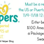 $100 Amex Gift Card + Pkg Pampers Swaddlers Giveaway