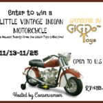 Little Vintage Indian Motorcycle Ride On Toy Giveaway