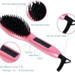 Digital Anti Scald Anti Static Ceramic Heating Detangling Hair Brush