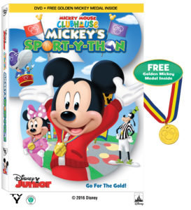 MMC_Mickey's-Sport-Y-Thon_DVD with medal