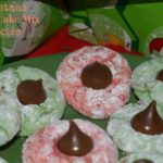Christmas Vanilla Cake Mix Cookies