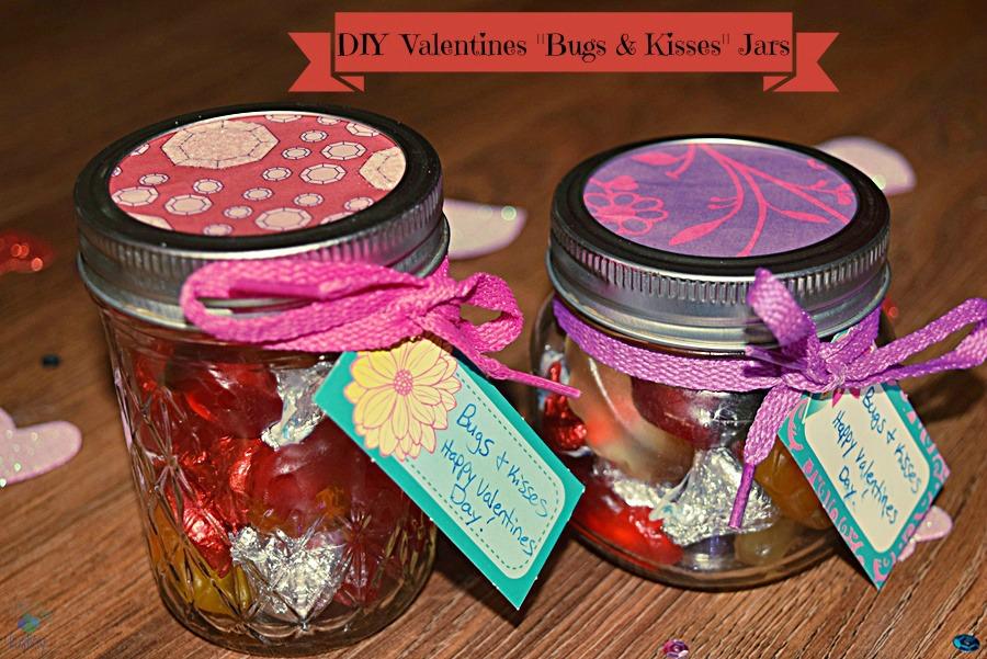 DIY Valentines Bugs  Kisses Jars