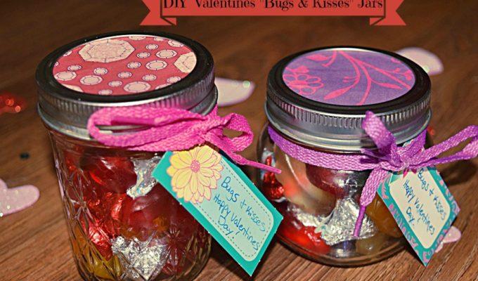 """DIY Valentine's """"Bugs & Kisses"""" Jars"""