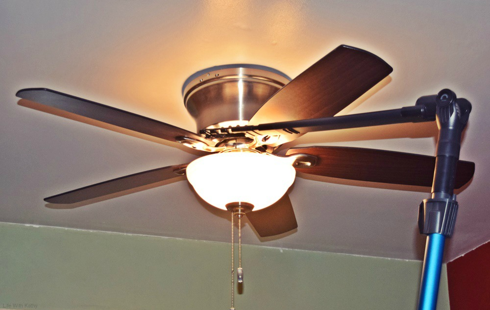 Cleaning The Ceiling Fan Has Always Been A Pain For Me I Have To Take Chair And Stand On It Because Can Never Reach Clean